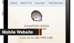 Mobile Website of the month - Hampden Dental