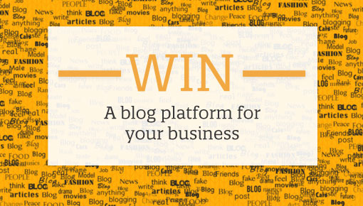 WIN a blog platform promotion