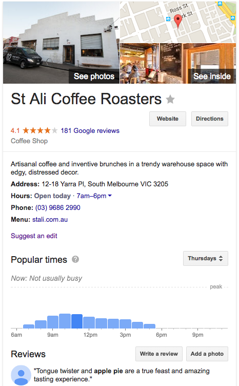 st ali roasters search results example