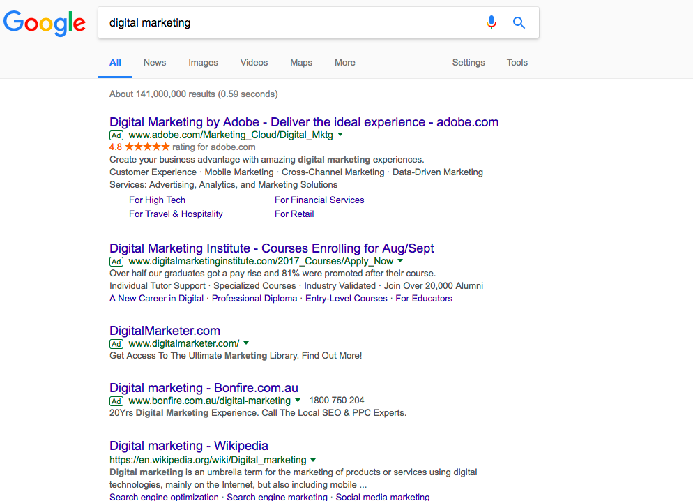 digital marketing and featured snippets