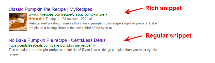 examples of rich and regular snippets