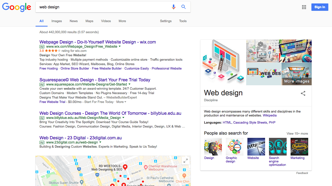 visual search results