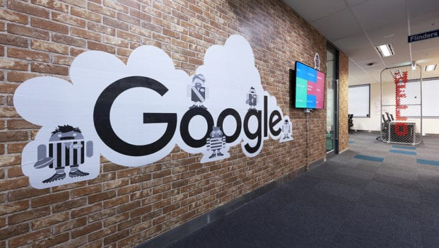 wall in Google Melbourne office