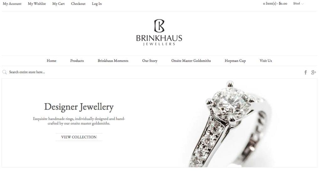 Brinkhaus Jewellers website