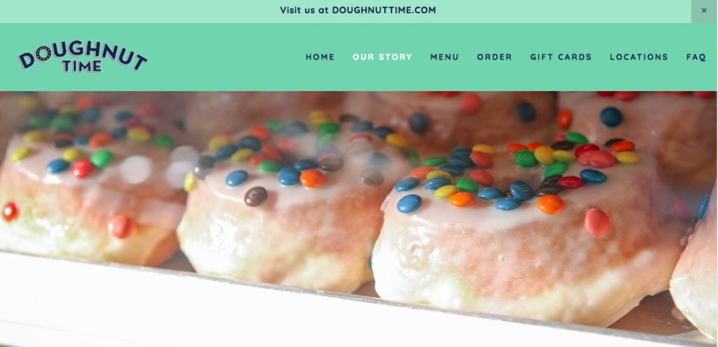 doughnut time website