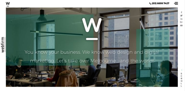 Webfirm homepage