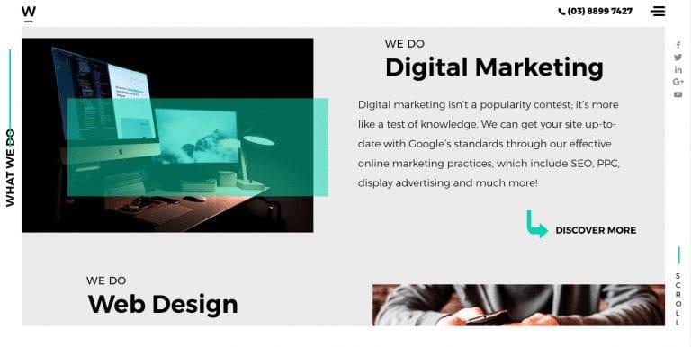 Webfirm Digital Marketing page