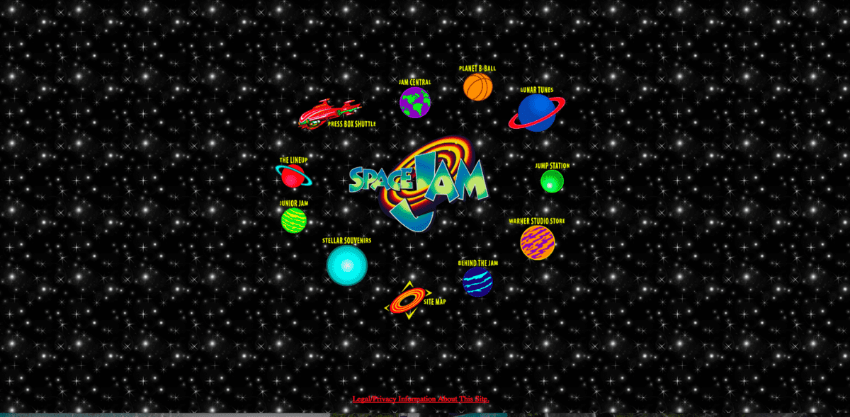 Space Jam homepage