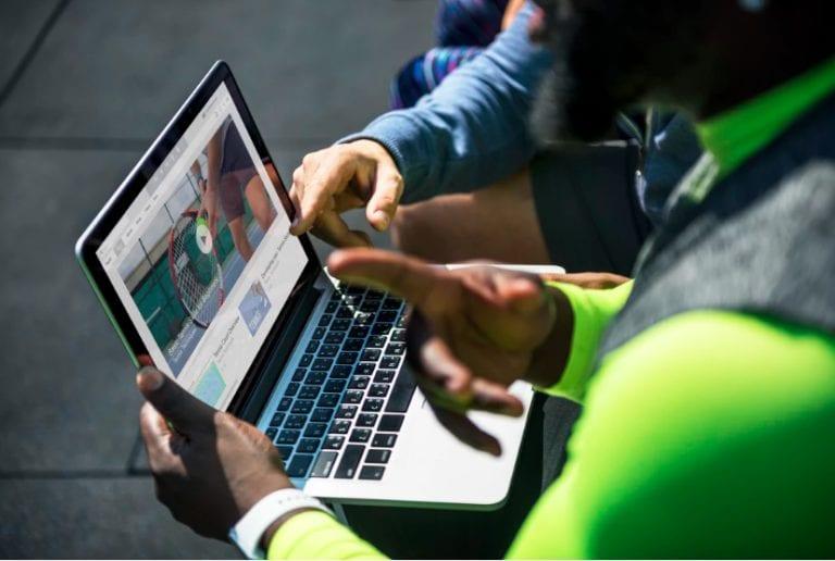 people using laptop