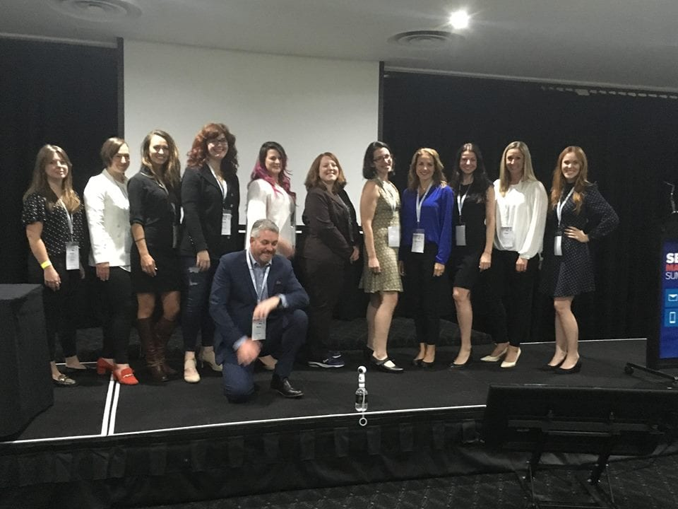 female speakers at the Search Marketing Summit 2018
