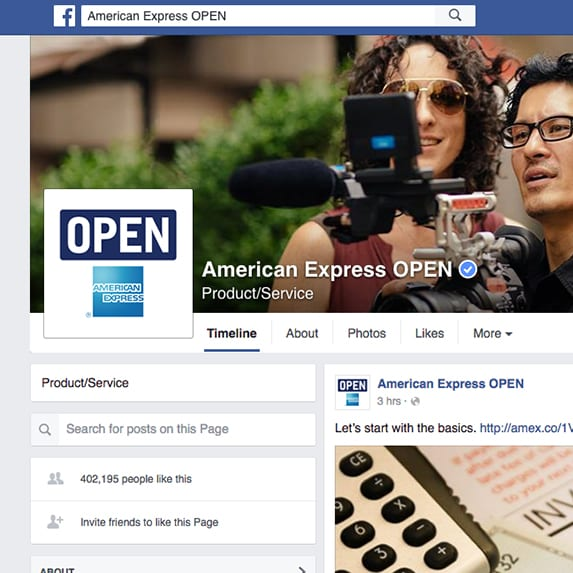 American Express OPEN Facebook page
