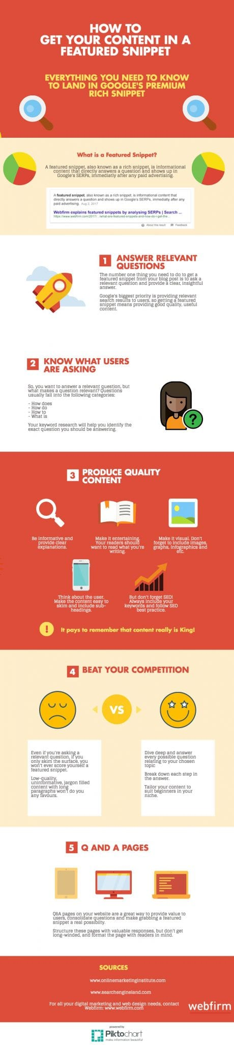 infographic: how to get a featured snippet