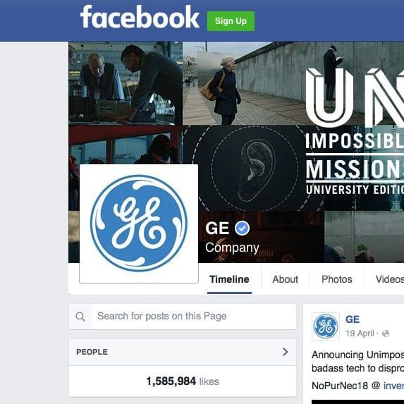 GE Money Facebook page