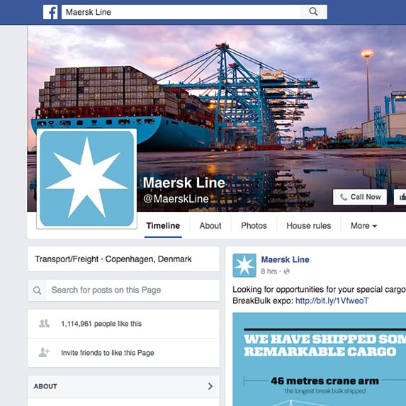 Maersk Line Facebook page