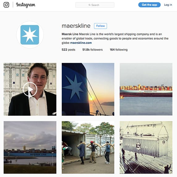 Maersk Line Instagram page