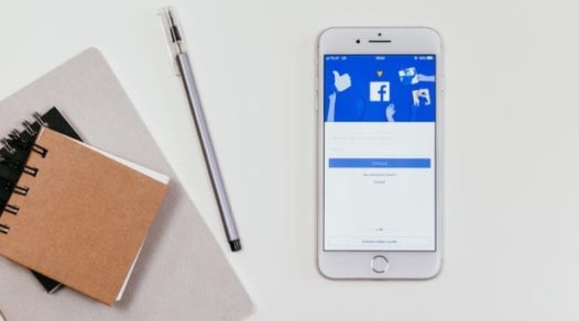 Facebook login page on mobile