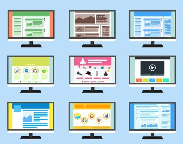 monitor screen mockups