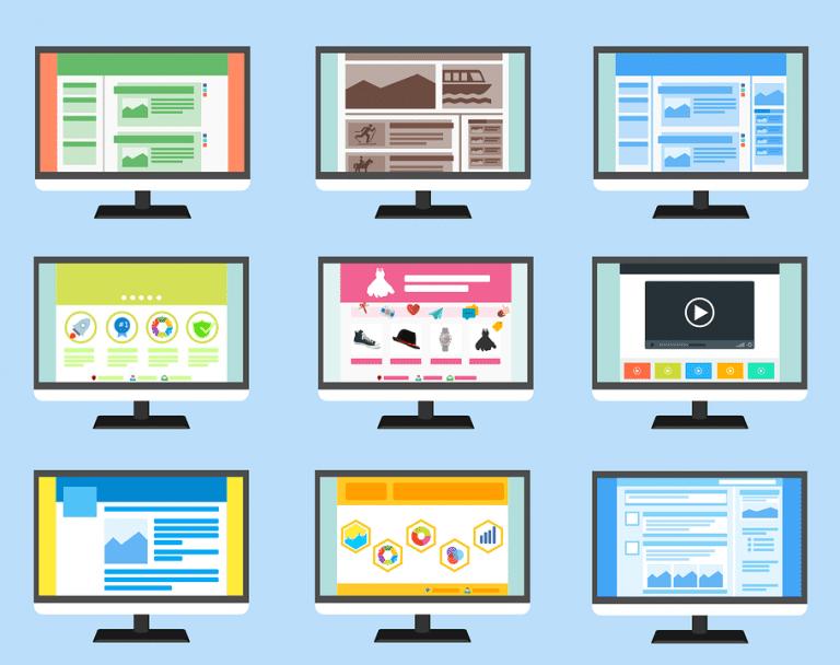 desktop screen mockups